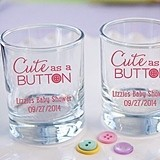 Kate Aspen Personalized Cute as a Button Printed Votive Holder