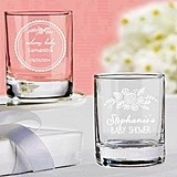 Kate Aspen Personalized Rustic Baby Shower Shot Glass/Votive Holder