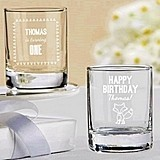 Kate Aspen Personalized Woodland Birthday Shot Glass/Votive Holder