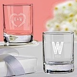 Kate Aspen Personalized Rustic Wedding Themed Shot Glass/Votive Holder