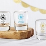 Kate Aspen Personalized Shot Glass/Votive Holder with Sunflower Design