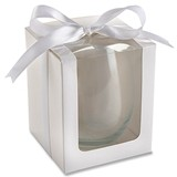 White 9 oz. Stemless Wine Glass Display Gift-Boxes (Set of 12)