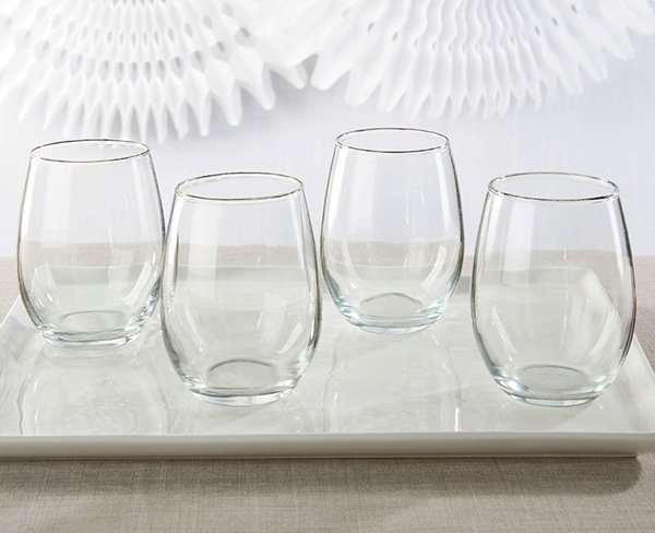 Kate Aspen Non-Personalized 9 oz. Stemless Wine Glass - DIY
