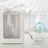 Personalized 'Ethereal Dream' Designs 9 oz. Stemless Wine Glasses