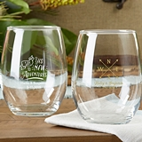 Kate Aspen Personalized Travel & Adventure 9 oz. Stemless Wine Glasses