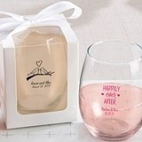 Kate Aspen Verre du Vin Personalized 9 oz. Stemless Wine Glasses