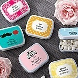 Kate Aspen Personalized Mint Tins for the Bridal Shower/Bride & Groom