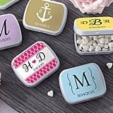 Kate Aspen Snazzy Monogrammed Mint Tins