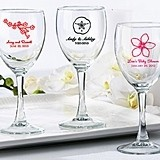 Kate Aspen Sparkling Personalized Wine Glasses