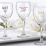 Kate Aspen Personalized 8.5 oz. Wine Glass with Vineyard Motif Designs
