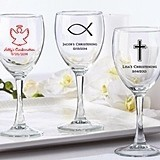 Kate Aspen Personalized Wine Glasses (Religious Designs)