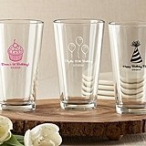 Kate Aspen Personalized Pint Glasses (Birthday Designs)
