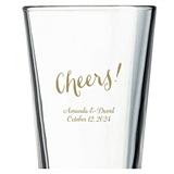 Kate Aspen Cheers! Script Design Personalized 16oz Pint Glass