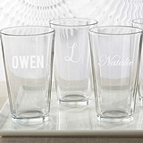 Kate Aspen Personalized Pint Glass Engraved with Name or Initial(s)