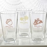 Kate Aspen Personalized 16 oz. Pint Glasses with Fall-Themed Designs