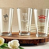 Kate Aspen Stunning Personalized Pint Glasses (Wedding Designs)