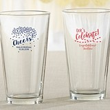 Kate Aspen Personalized Pint Glass with Party Time Designs
