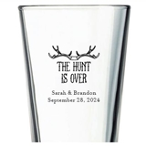 Kate Aspen 'The Hunt is Over' Design Personalized 16oz Pint Glass