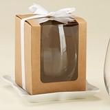 Kraft 15 oz. Stemless Wine Glass Display Gift-Boxes (Set of 12)