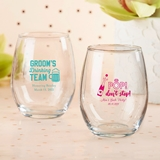 Personalized 15oz Stemless Wine Glass -- Bachelor(ette) Party Designs