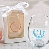 Kate Aspen Personalized Botanical Garden 15 oz. Stemless Wine Glass