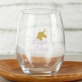 Kate Aspen Enchanted Party 15 oz. Stemless Wine Glasses (Set of 4)