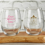 Kate Aspen Fairy Tale Theme 15 oz. Stemless Wine Glasses (2 Designs)
