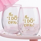"Kate Aspen ""The I Do Crew"" Stemless Wine Glasses (Set of 4)"