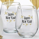 Kate Aspen 'Happy New Year!' 15 oz. Stemless Wine Glasses (Set of 4)