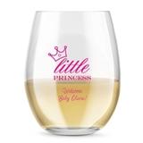 Kate Aspen Personalized 15oz Little Princess Crown Stemless Wine Glass