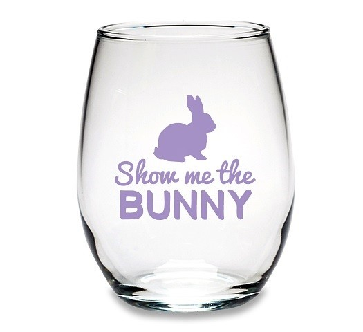 kate aspen 39 show me the bunny 39 easter stemless wine glasses set of 4 personalized gifts and. Black Bedroom Furniture Sets. Home Design Ideas