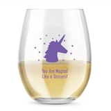 Kate Aspen Personalized 15oz Unicorn Stars Design Stemless Wine Glass