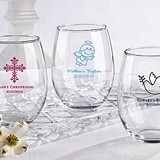 Kate Aspen Personalized Stemless 15 oz. Wine Glass (Religious Designs)