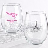 Kate Aspen Sophisticated Personalized Stemless 15 oz. Wine Glasses