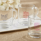 Kate Aspen Personalized 10 oz. Glass Coffee Mug with Wedding Designs