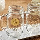 Kate Aspen Personalized 16 oz. Mason Jars (Beach Tides Designs)