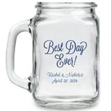 Kate Aspen Best Day Ever Design Personalized 16oz Mason Jars
