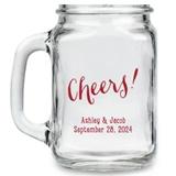 Kate Aspen Cheers! Script Design Personalized 16oz Mason Jars