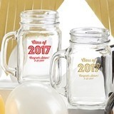 Kate Aspen Personalized 16 oz. Mason Jars with 'Class of 2017' Design