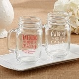 Personalized 'Eat Drink & Be Merry' Design 16 oz. Mason Jars