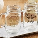 "Personalized ""The Hunt is Over"" Motif 16 oz. Mason Jars"