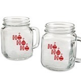 "Kate Aspen ""Ho Ho Ho"" Design 16 oz. Mason Jars (Set of 4)"