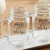 Kate Aspen Script Mr & Mrs Design 16 oz. Mason Jars (Non-Personalized)