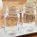 Kate Aspen Personalized 16 oz. Mason Jars (Monogram Designs)