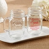 Kate Aspen Personalized 'Making Spirits Bright' 16 oz. Mason Jars