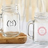 Kate Aspen Personalized 'Rustic Charm' Designs 16 oz. Mason Jars