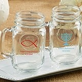 Kate Aspen Personalized 16 oz. Mason Jars (Religious Designs)