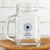 Kate Aspen Personalized 16 oz. Mason Jar with Sunflower Design