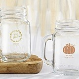 Personalized Thanksgiving Designs 16 oz. Mason Jars (Set of 4)