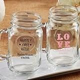 Kate Aspen Personalized 16 oz. Mason Jars (Wedding & Seasonal Designs)